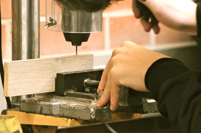 Holzwerkstatt im Rahmen der Schülerfirma