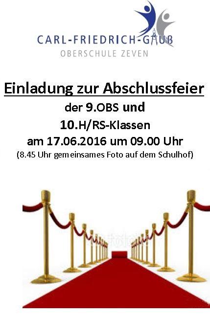 carl-friedrich-gauß-schule zeven | integrierte gesamtschule und, Einladungen