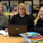 Frau Buijs, Frau Brockmann & Frau Wittek in der Schulbücherei