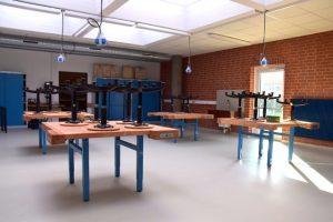Die Werk- und Technikräume