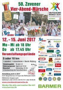 Vier-Abend-Märsche in Zeven vom 12. bis 15. Juni 2017